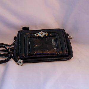 BRIGHTON PURSE/WALLET Black w/ Mult Compartments